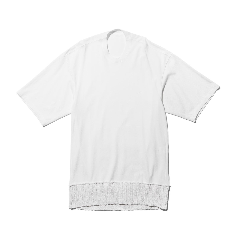 737CUM12-OFF WHITE / ニットヘム Tシャツ