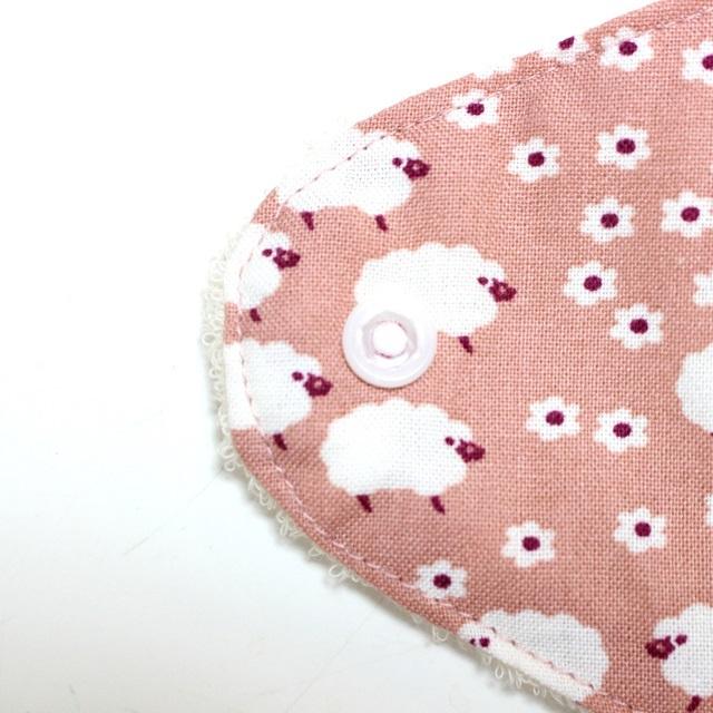 ピンク羊*ホルダー型布ナプキン*ロングサイズ