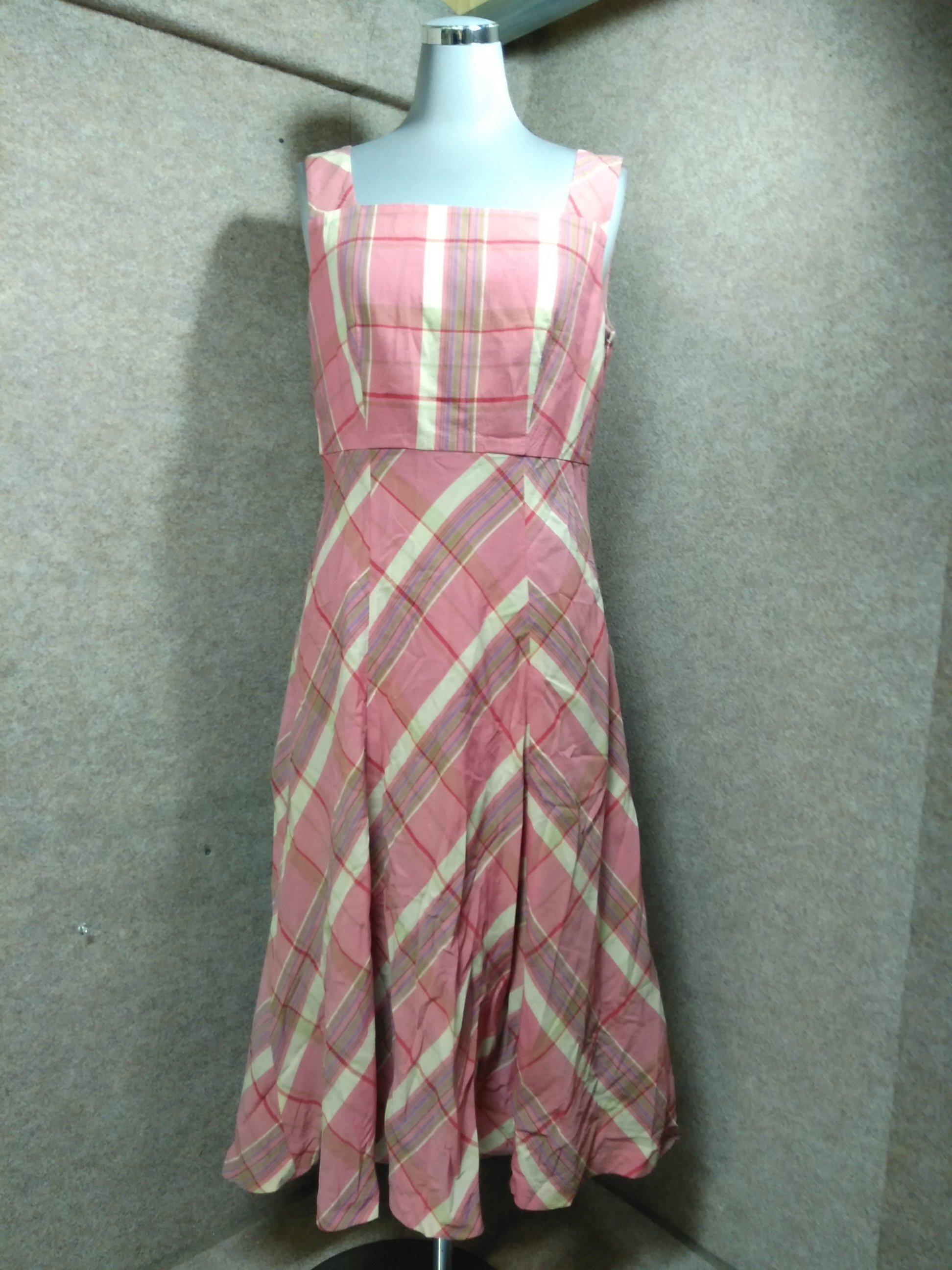 ホコモモラ sybilla ワンピース 40 ピンク チェック mu1005c