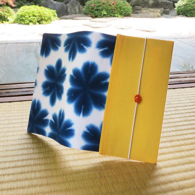 有松鳴海絞り・雪花絞り[花・藍]