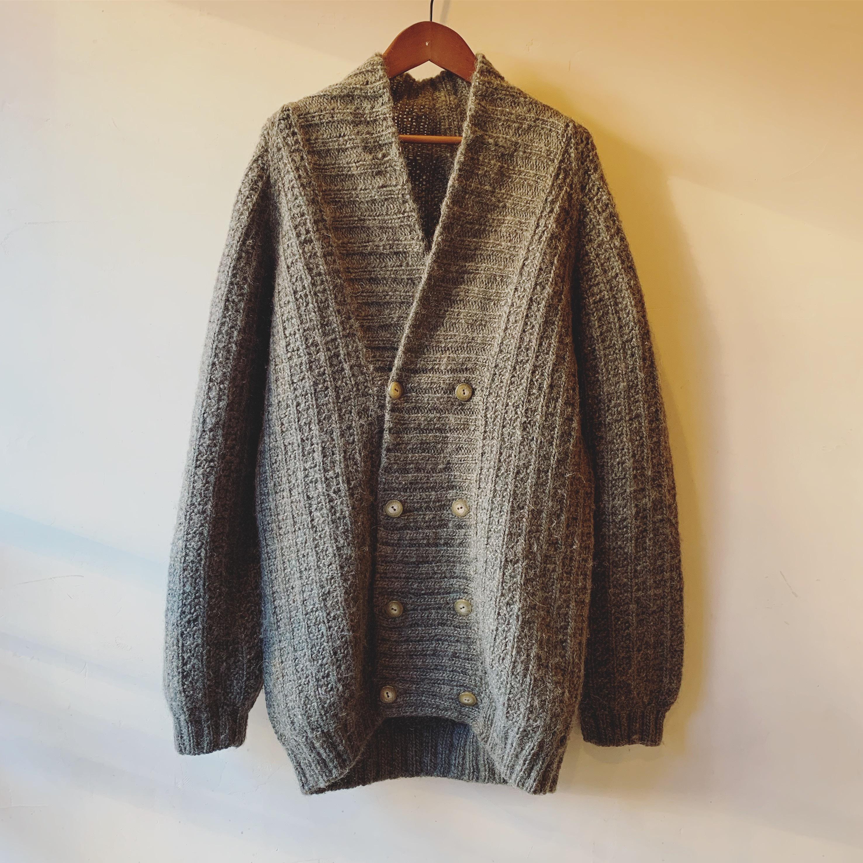 vintage double button knit cardigan