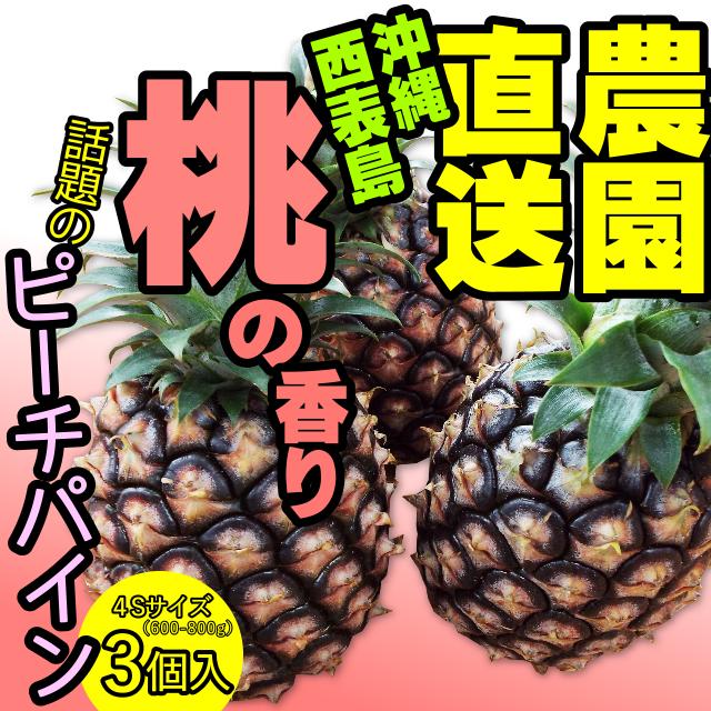 【数量限定】沖縄・西表島産  桃の香り! 人気のピーチパイン