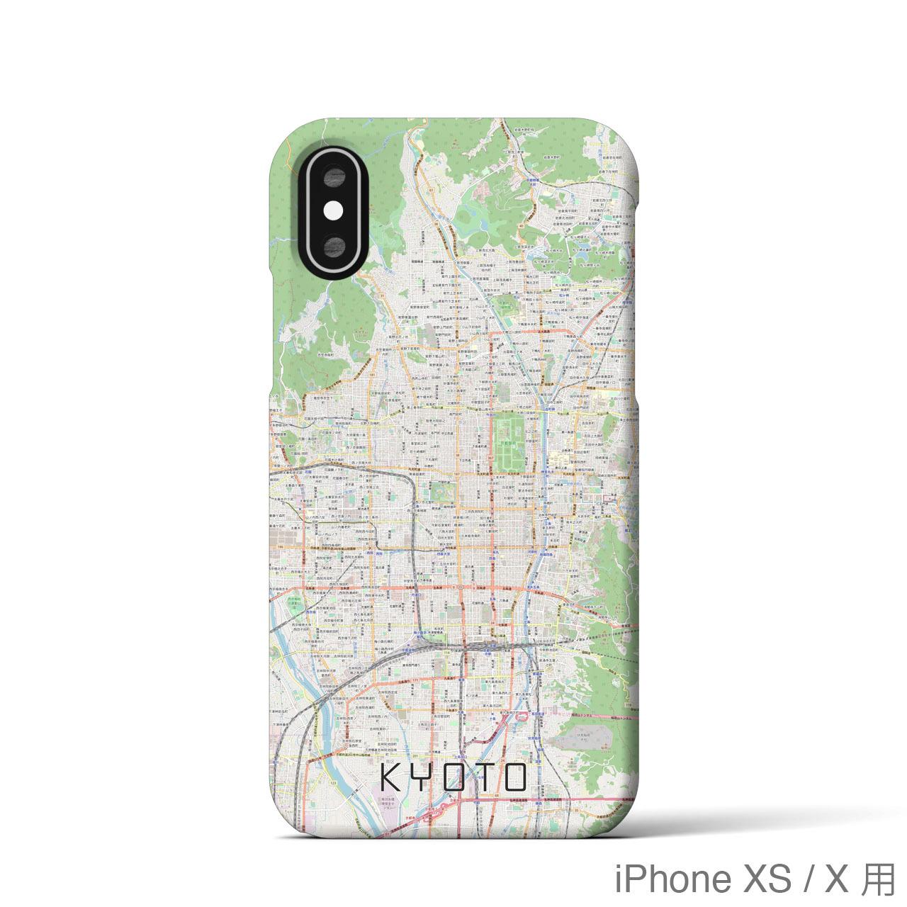 【京都】地図柄iPhoneケース(バックカバータイプ・ナチュラル)