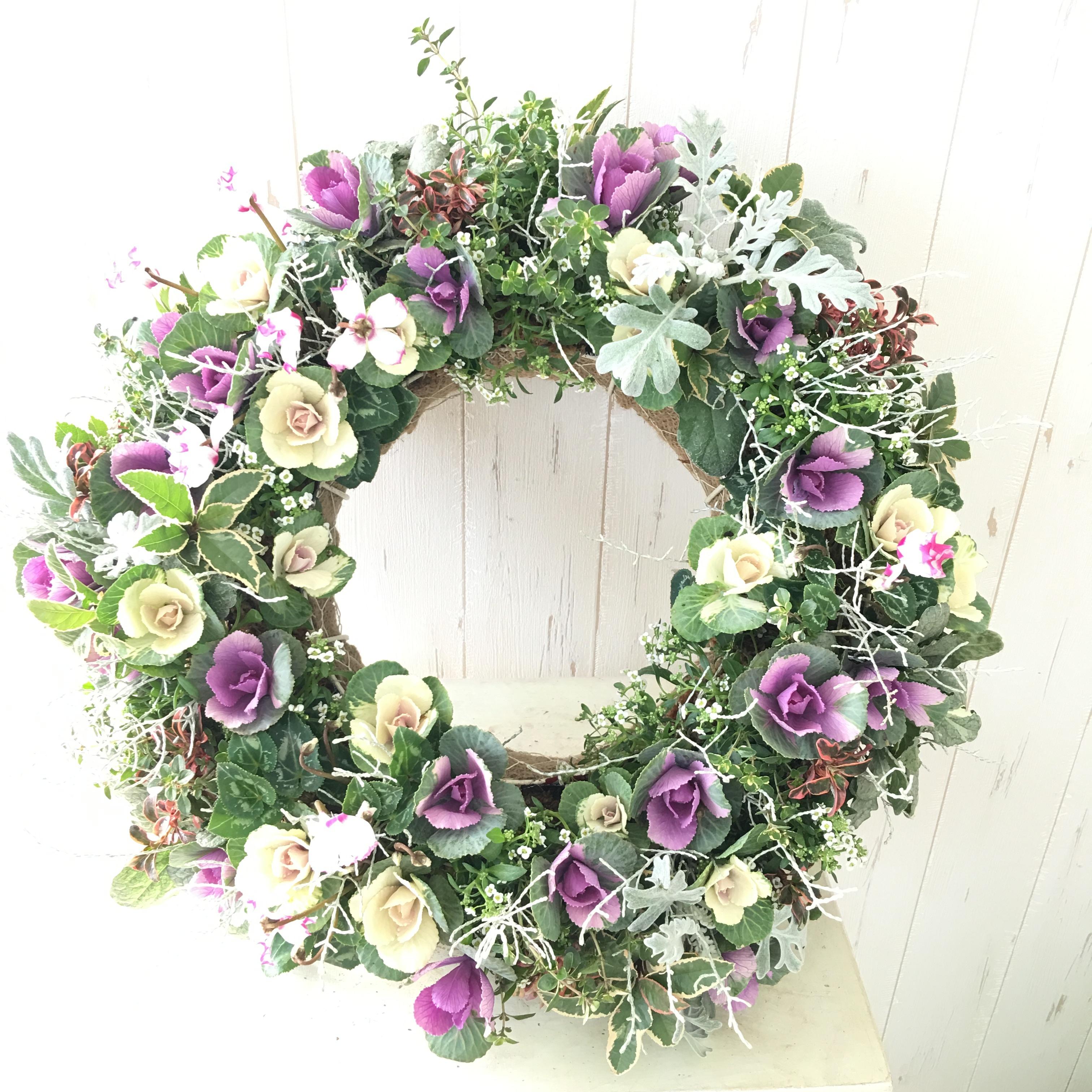季節の花で作るオーダーメイドゴージャスリース - 画像4