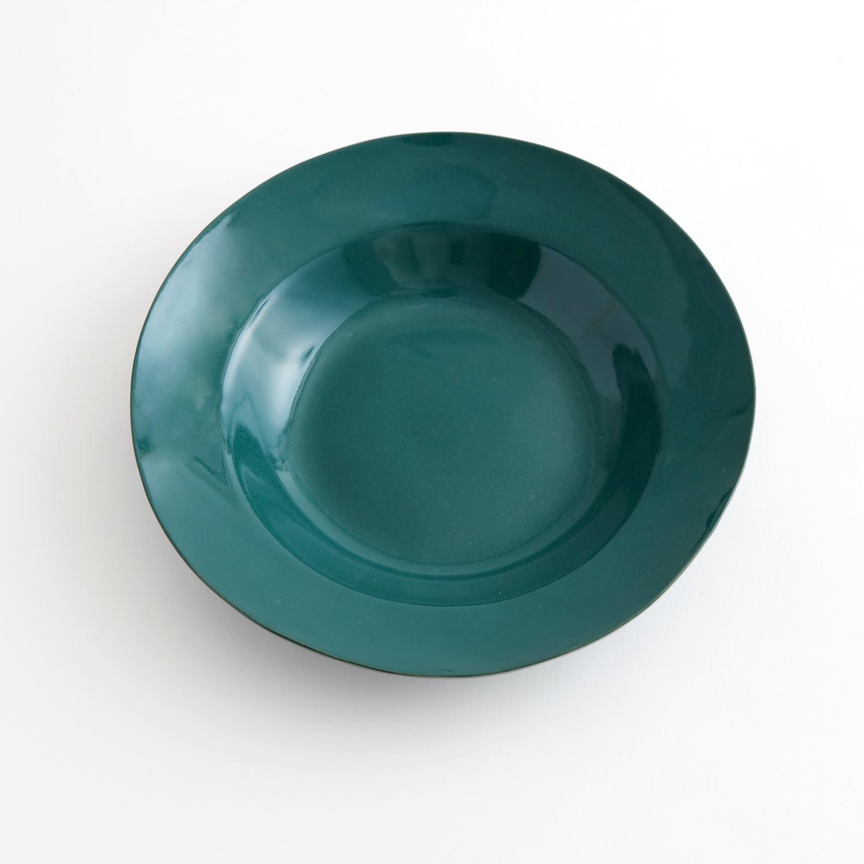 大江憲一/リム皿 L 緑