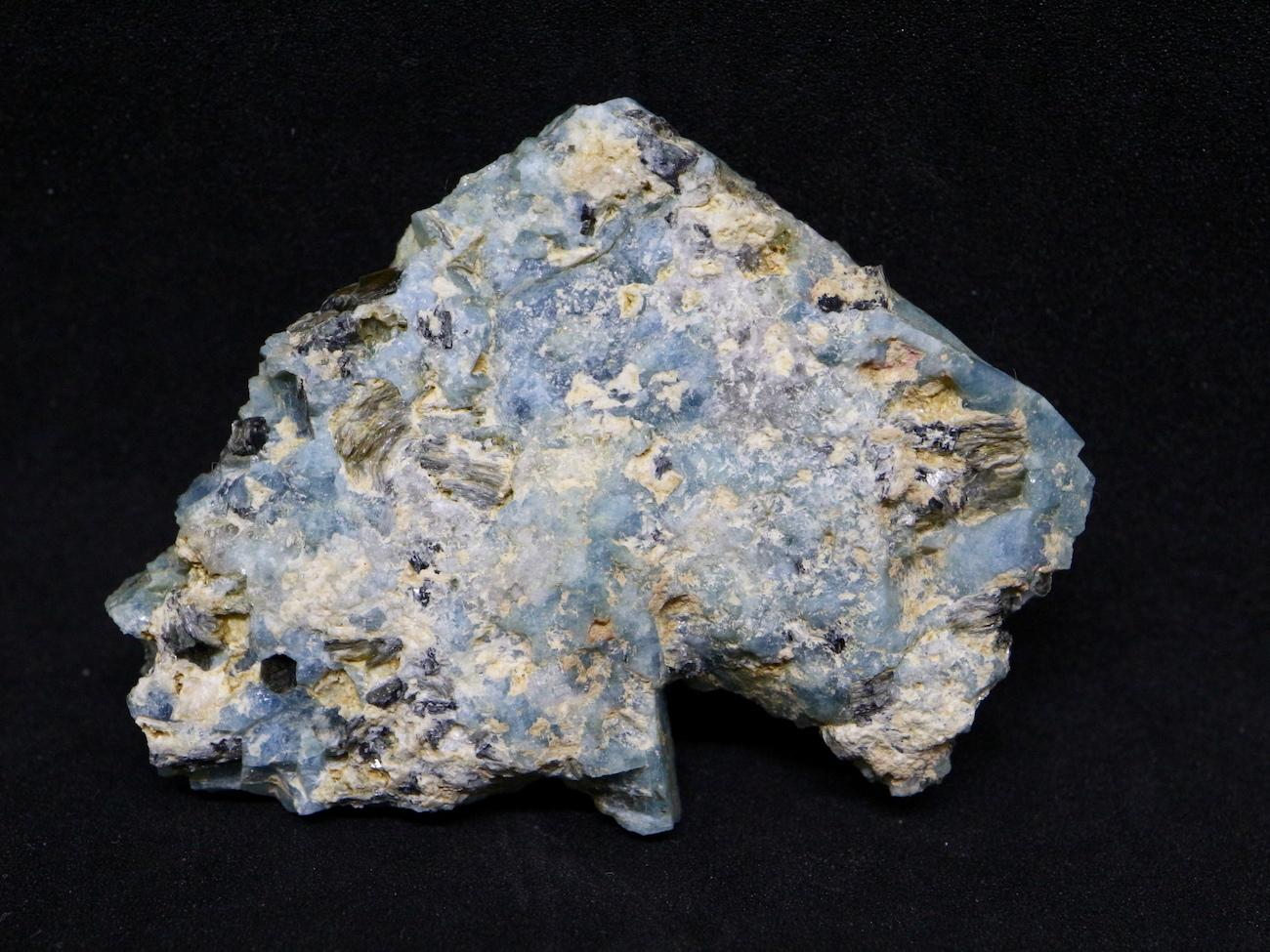 ブルーベリルアクアマリン カリフォルニア産  14,5g 原石 AQ034