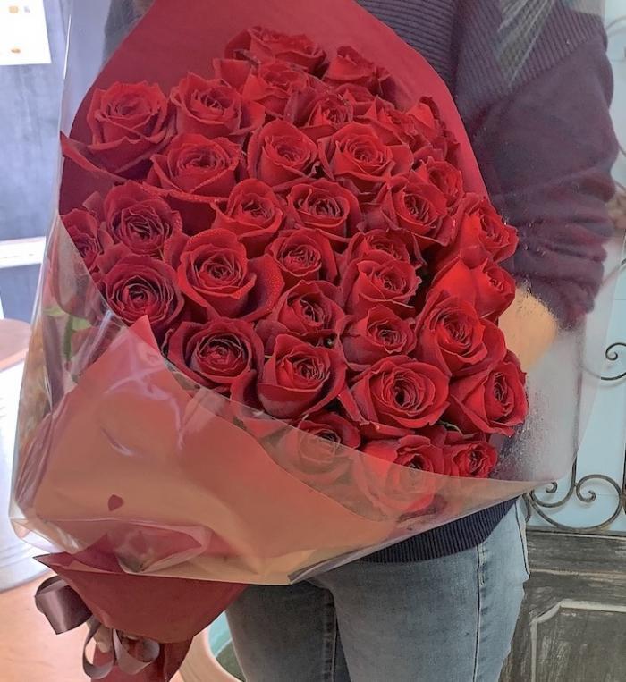プロポーズの赤バラ40本の花束(生花)