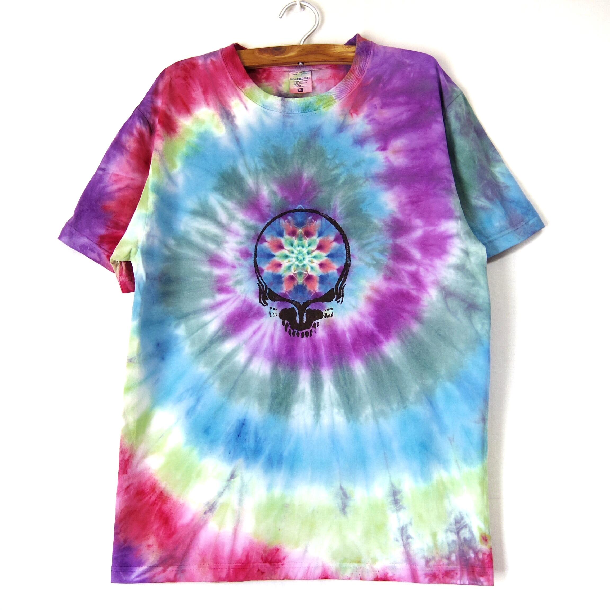 TKHOMEFACTORY × GREATFUL DEAD  Mandala×spiral tiedye T-shirt  XL