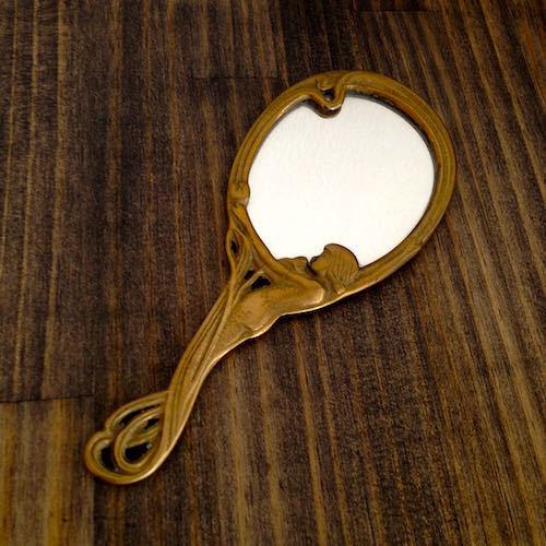 Art Nouveau Hand Mirror