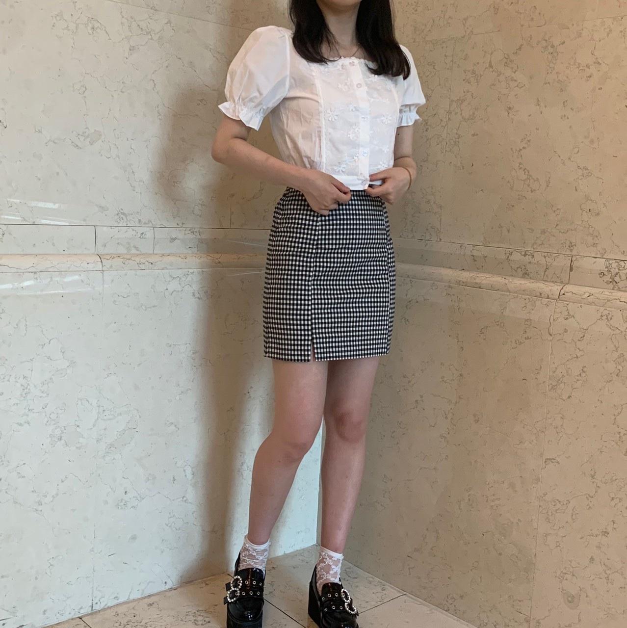 lace paff blouse