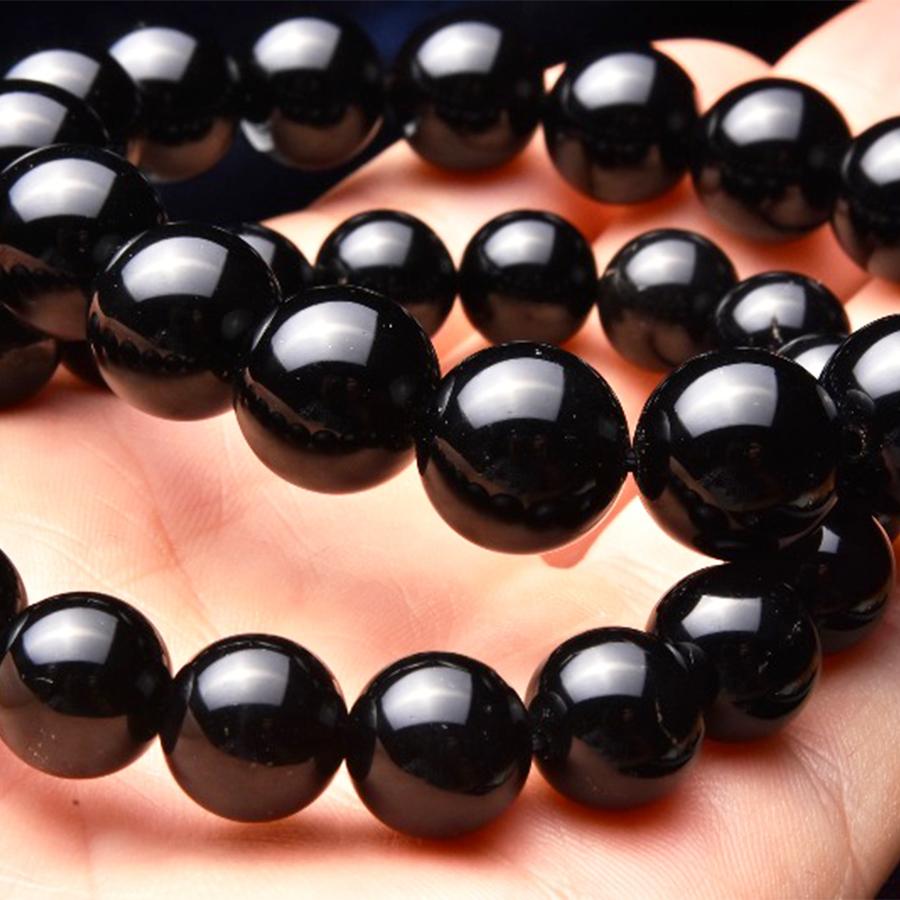【強力な邪気払い】天然石 モリオン(黒水晶)ブレスレット(11.5mm)