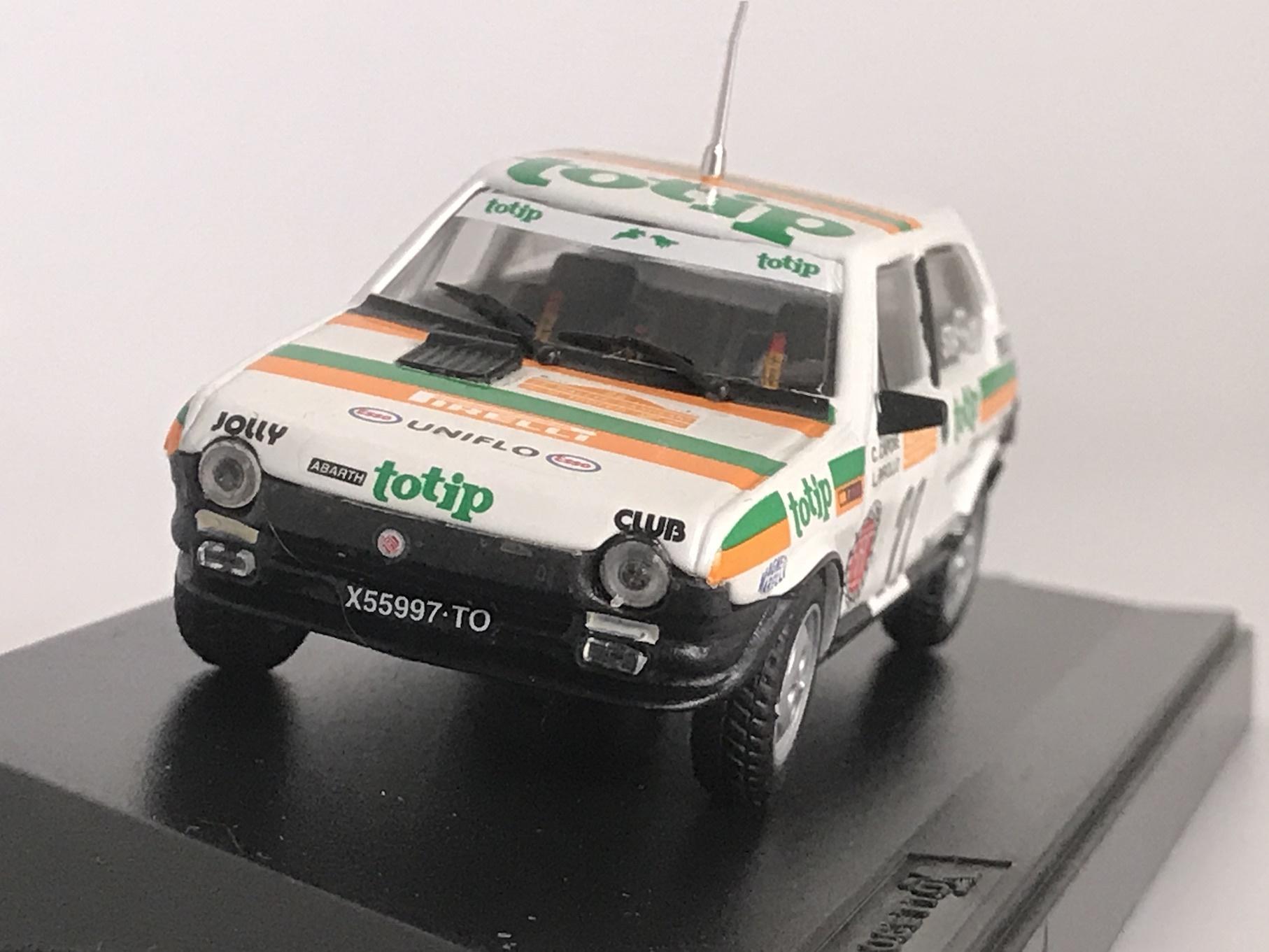 FIAT RITOMO ABARTH 125 TC RALLY SANREMO 1982 【1/43】【PROGETTOK、MADE IN ITALY】