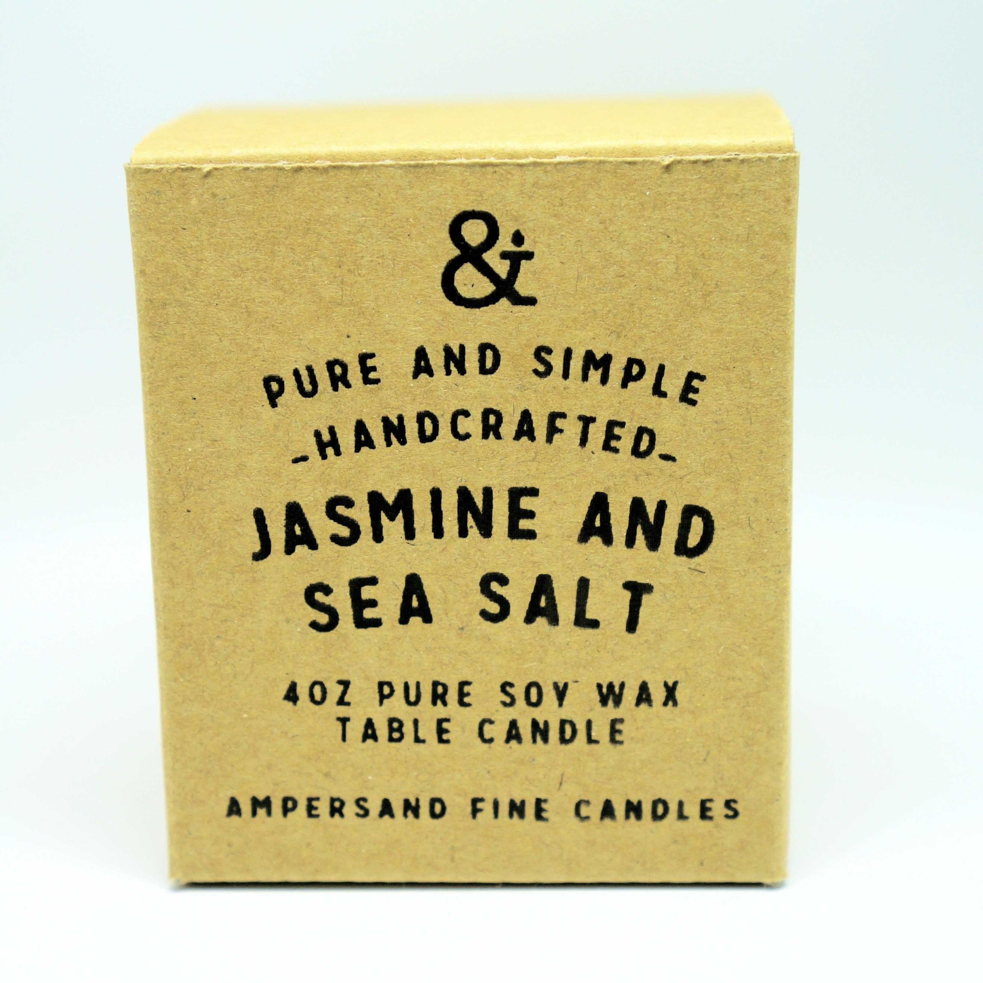 4oz Amber Jar Candle -JASMINE AND SEA SALT- キャンドル Candles - 画像1
