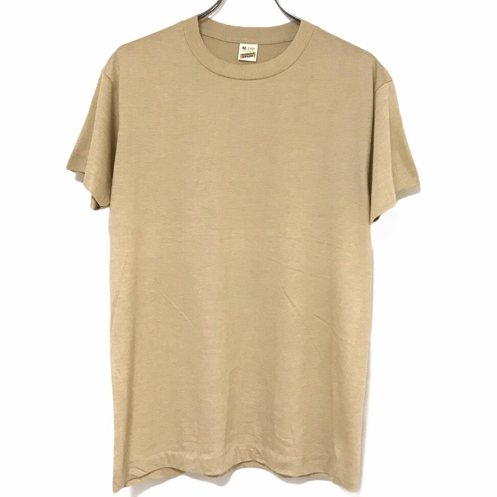 Dead Stock! 80's SCREEN STARS T-shirt made in USA Beige