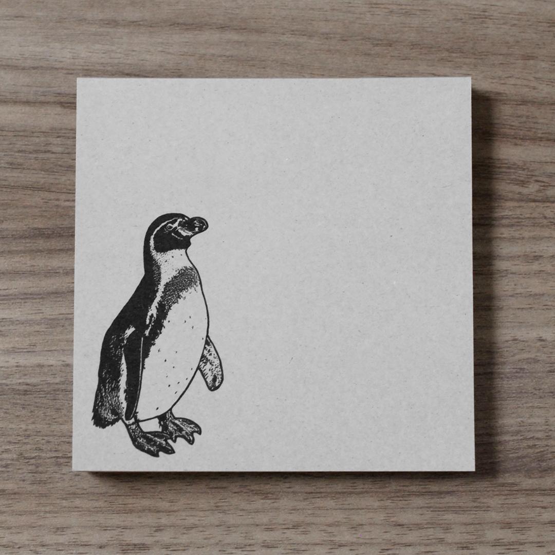 再生紙スクエアメモ(ペンギン)