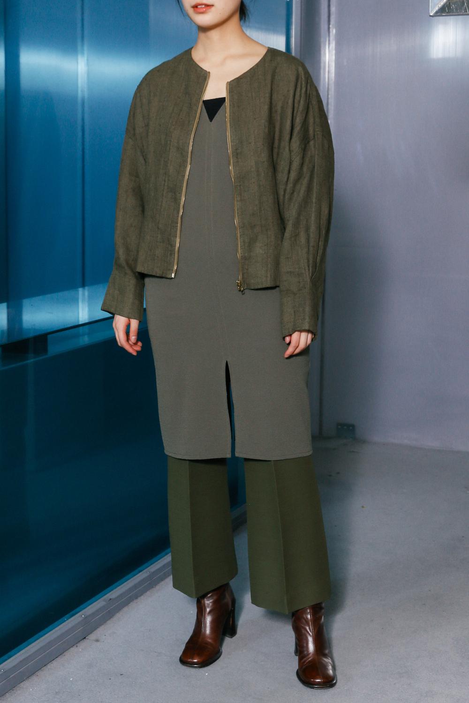 90's Linen Olive Short Jacket