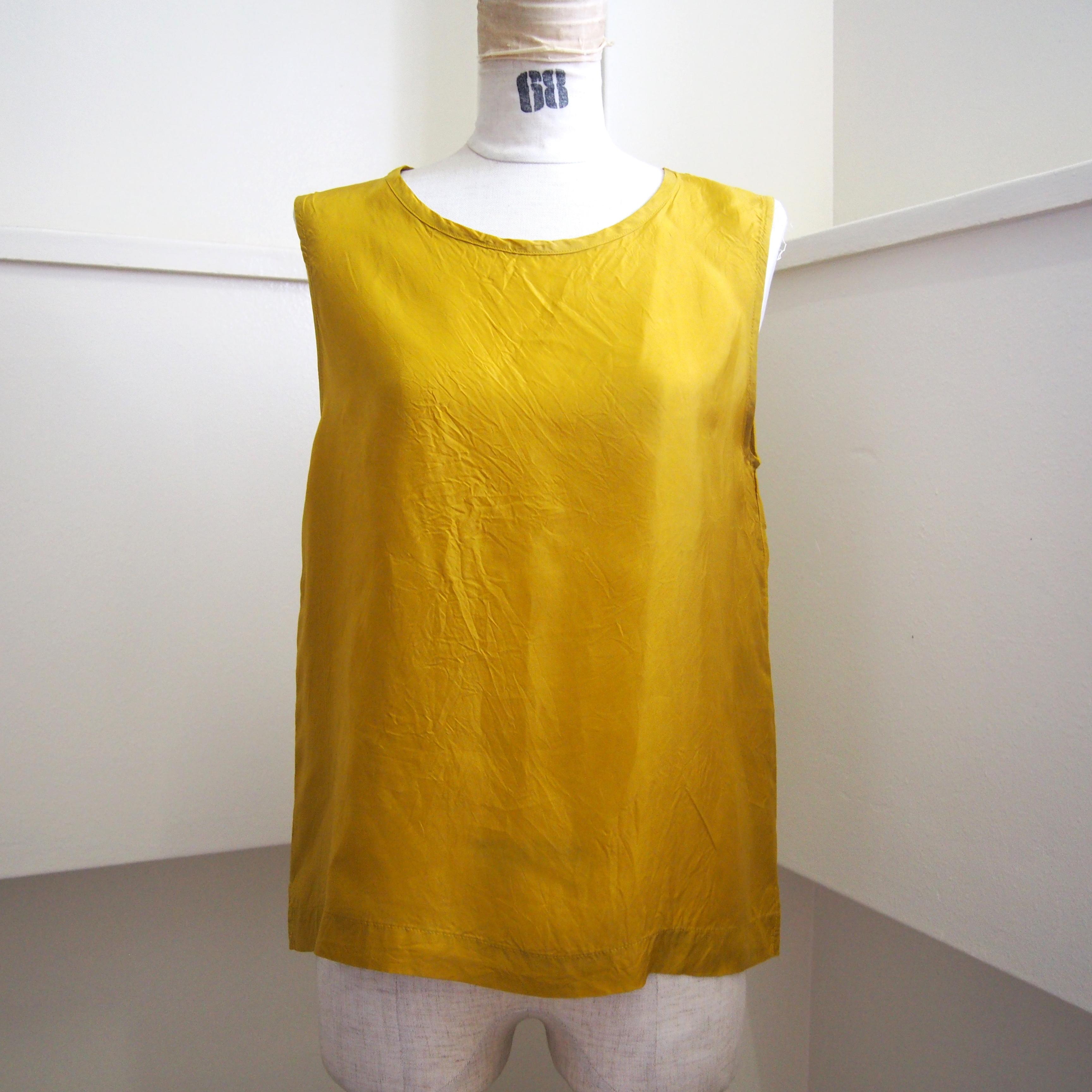 【hippiness】cupro tanktop (mustard) /【ヒッピネス】キュプラ タンクトップ (マスタード)