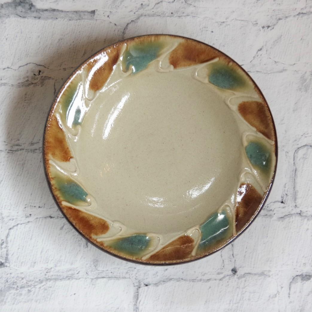 やちむん【工房マチヒコ】5.5寸リム皿