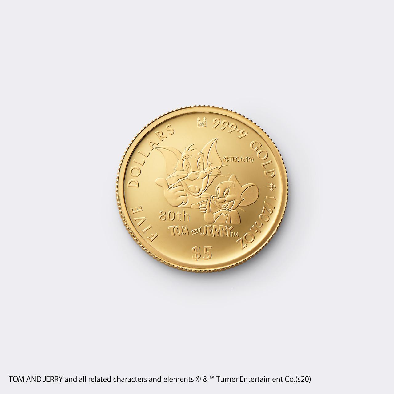 2020 TOM&JERRY 1/20 GOLD PROOF COIN(トムとジェリー 80周年記念硬貨 1/20オンス)