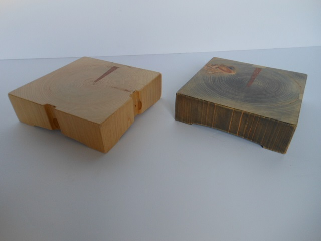 古材 木製サルヴァ - 画像4