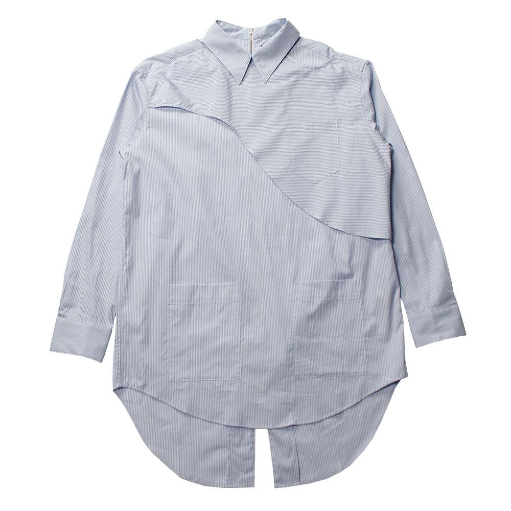 YUKI HASHIMOTO Back Zipped  Blue Shirt