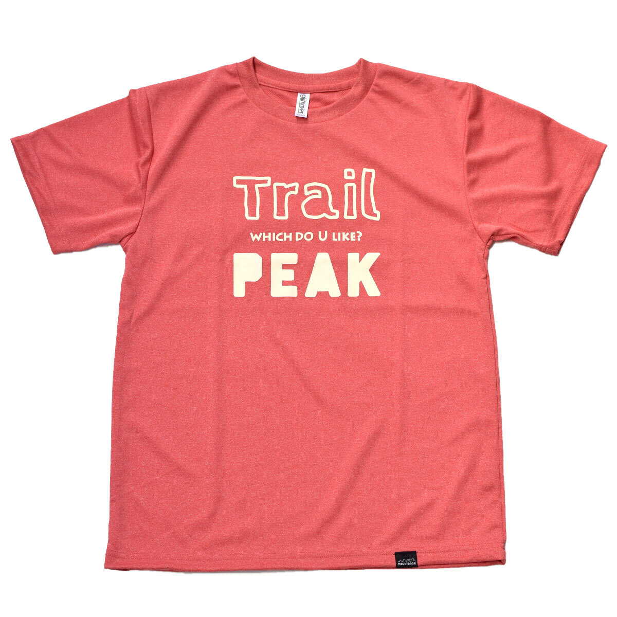 mountdoor マウントドア Trail or PEAK Tシャツ(ミックスレッド)