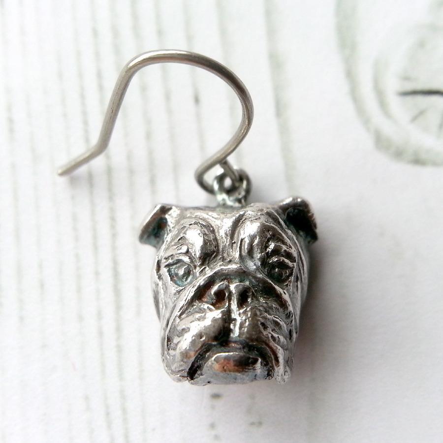 E・ブル(Sサイズ)silver925 & ピアス・チタンフック(ペア)