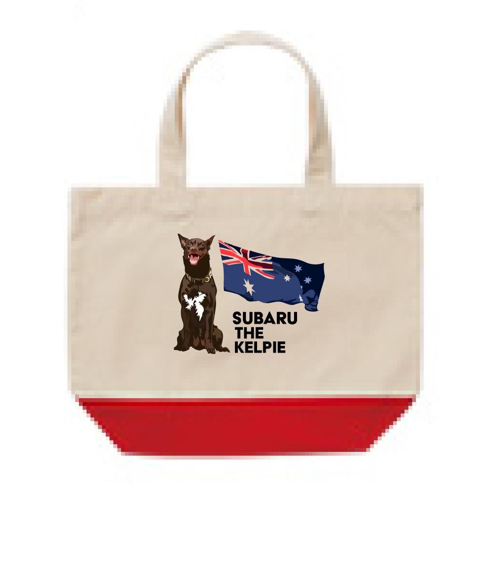 オリジナル・オーダーAK-tote-007S  オーストラリアン・ケルピー 愛犬カスタム トートバッグSサイズ