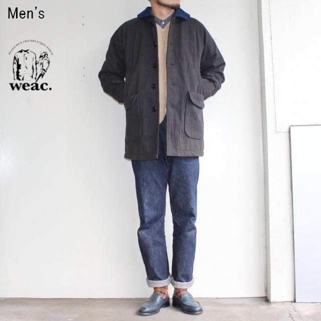 weac. ショールカラーハンティングコート BLUE MAN COAT (CHARCOAL) 【Men's】