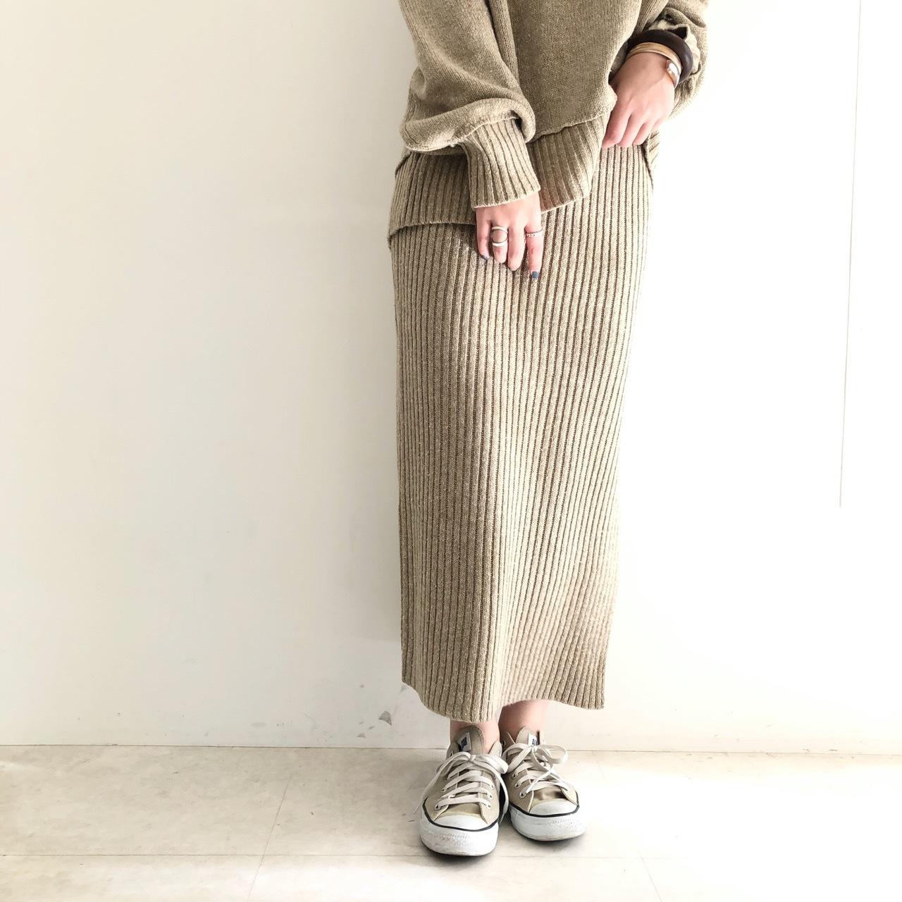 【 Framingo firm 】 リブニットタイトスカート