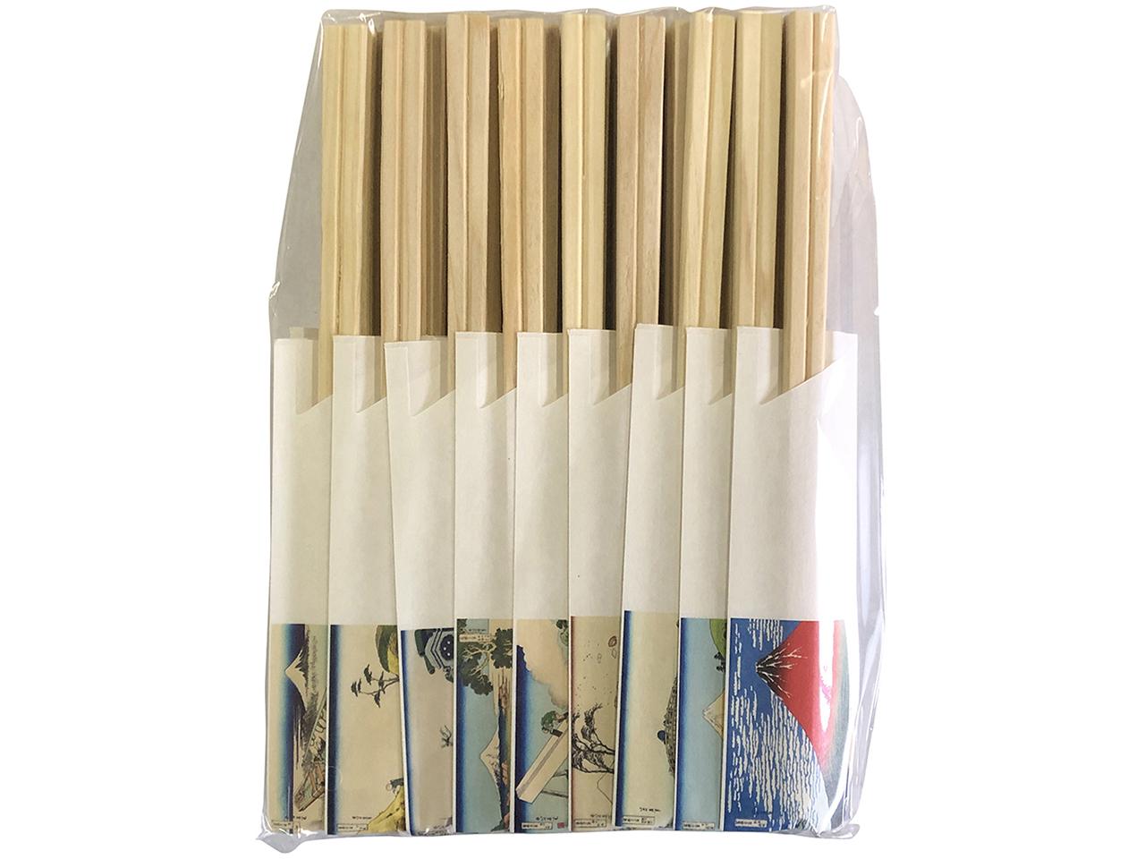 国産ヒノキの割り箸 「富嶽三十六景箸 桧元禄36膳」 ポストIN発送対応商品