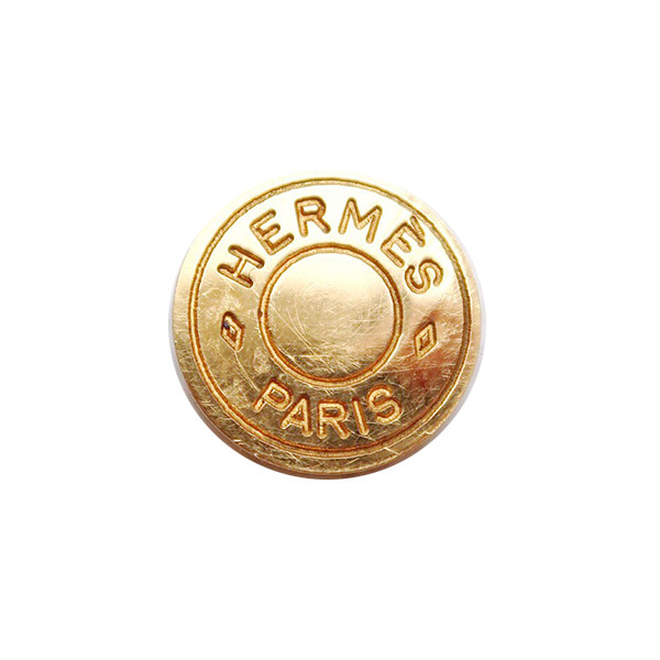 【VINTAGE HERMES BUTTON】セリエ ゴールド ボタン