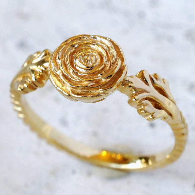 ラナンキュラスのリング(YG color)