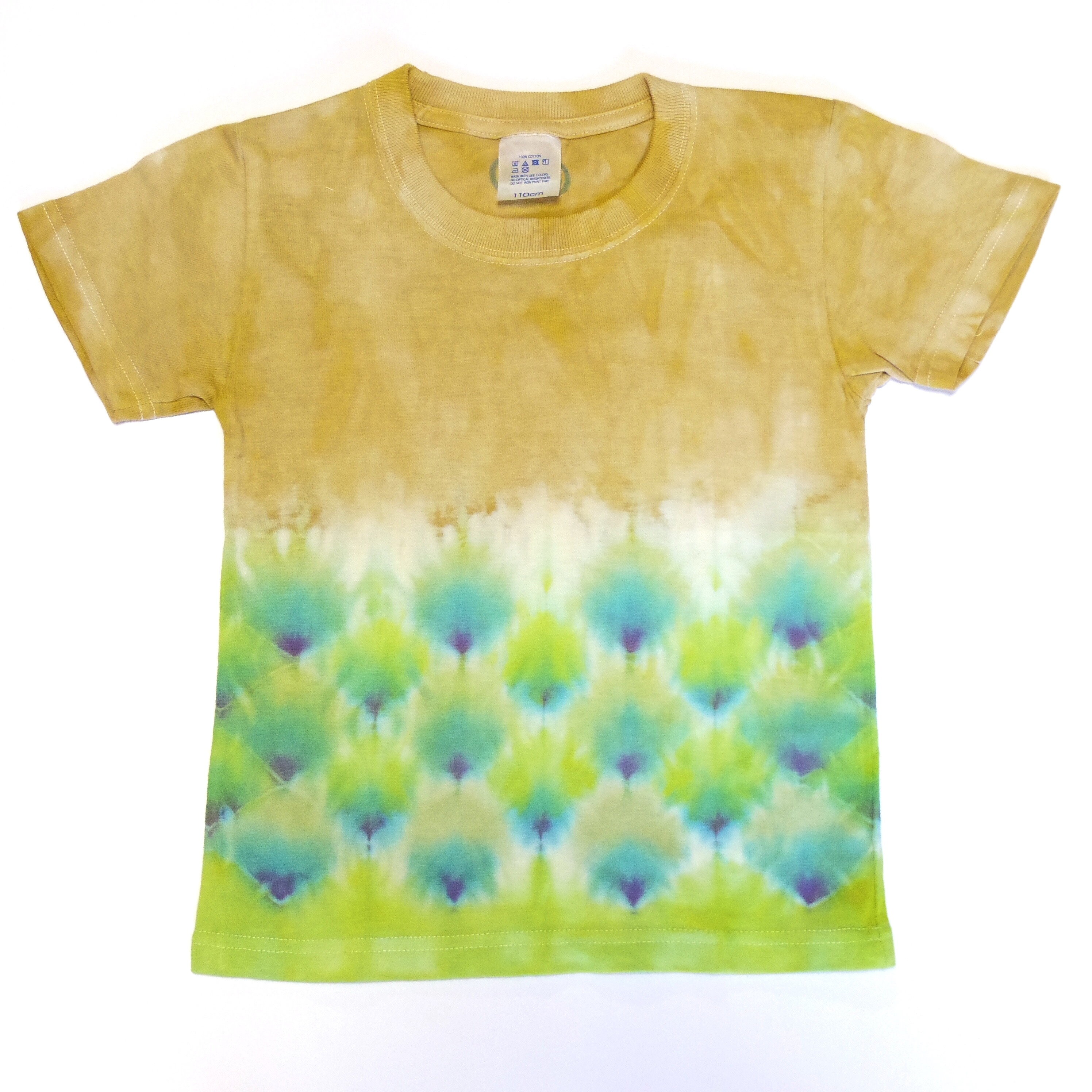 TKHOME FACTORY ウロコ染め タイダイ キッズTシャツ 110cm