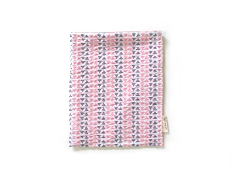 ハリネズミ用寝袋 M(夏用) 綿リップル×スムースニット トライアングル