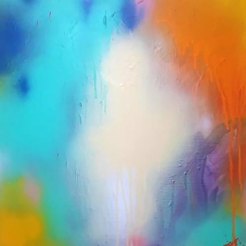 絵画 絵 ピクチャー 縁起画 モダン シェアハウス アートパネル アート art 14cm×14cm 一人暮らし 送料無料 インテリア 雑貨 壁掛け 置物 おしゃれ ロココロ 現代アート 抽象画 画家 : tamajapan 作品 : t-12
