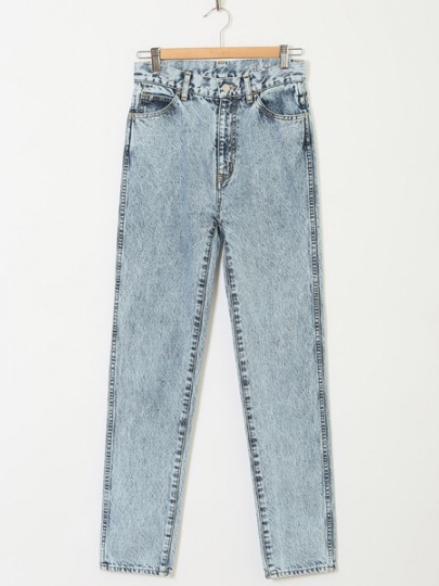 【HOLIDAY】HIGH WAIST SKINNY DENIM PANTS(HARD WASH)