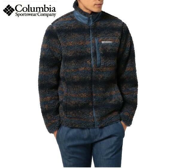 コロンビア Columbia フリース ジャケット ウィンターパスプリントフリースフルジップ AE0259 Dark Mountain Blanket Print PM3734
