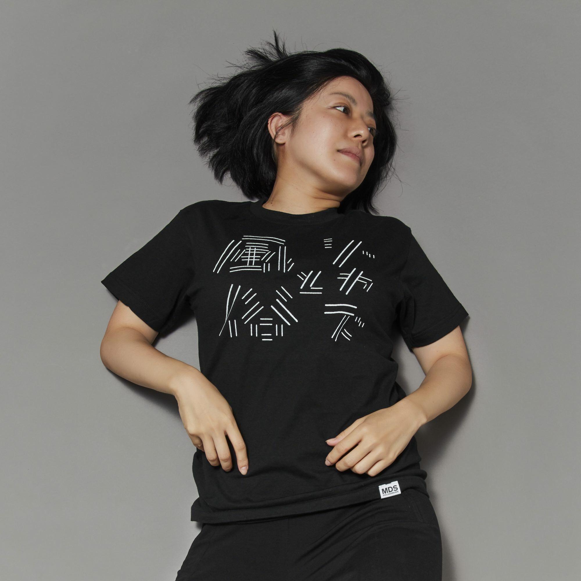 ジャズと風俗Tシャツ 黒