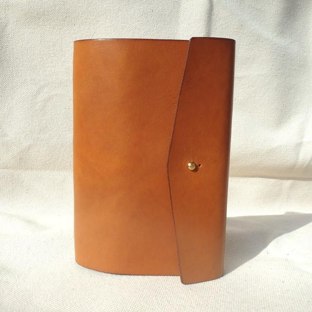 大容量 革のカードケース (ギボシ仕様)  / キャメル