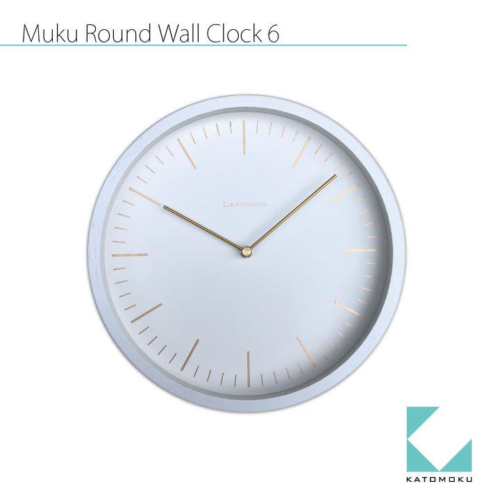 KATOMOKU muku round wall clock 6 km-59W
