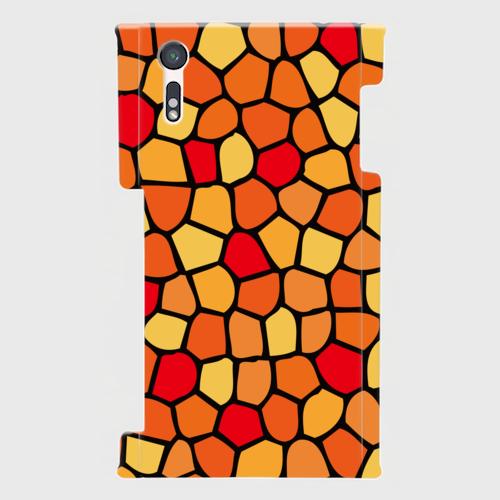 モザイクタイル(赤・黄・橙)/ Androidスマホケース(ハードケース)
