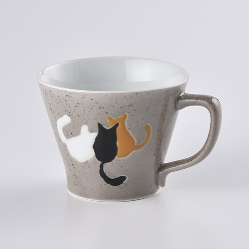 なかよし猫 Mマグカップ(グレー)
