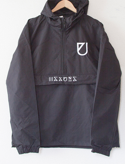 ※Restock【ISSUES】U Embroidered Windbreaker (Black)