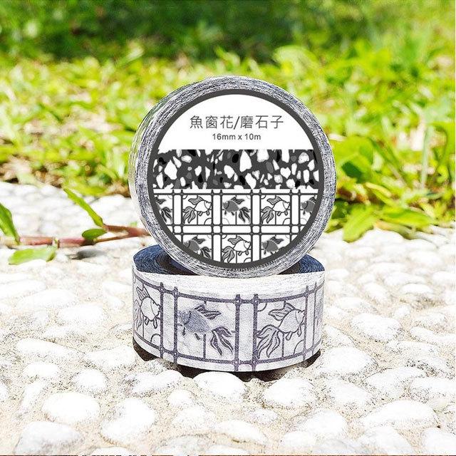 魚窗花/磨石子(マスキングテープ)