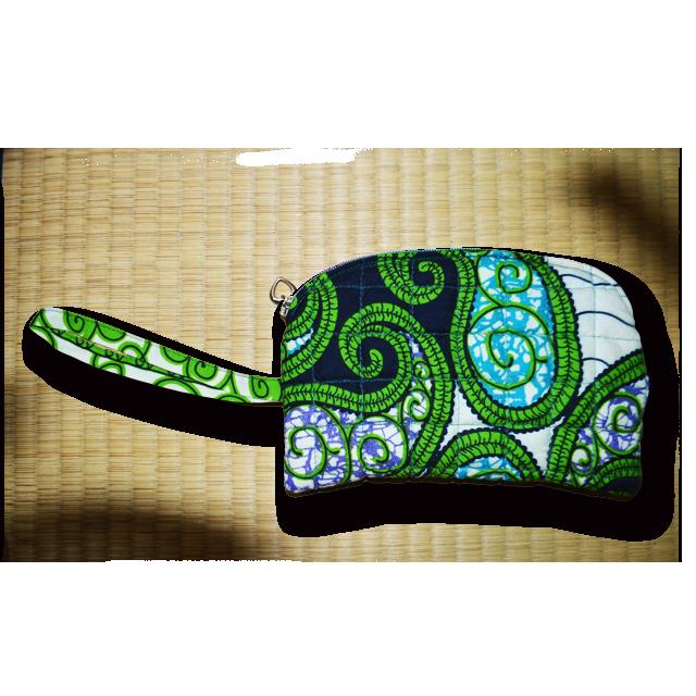 アフリカ柄ポーチ(緑)