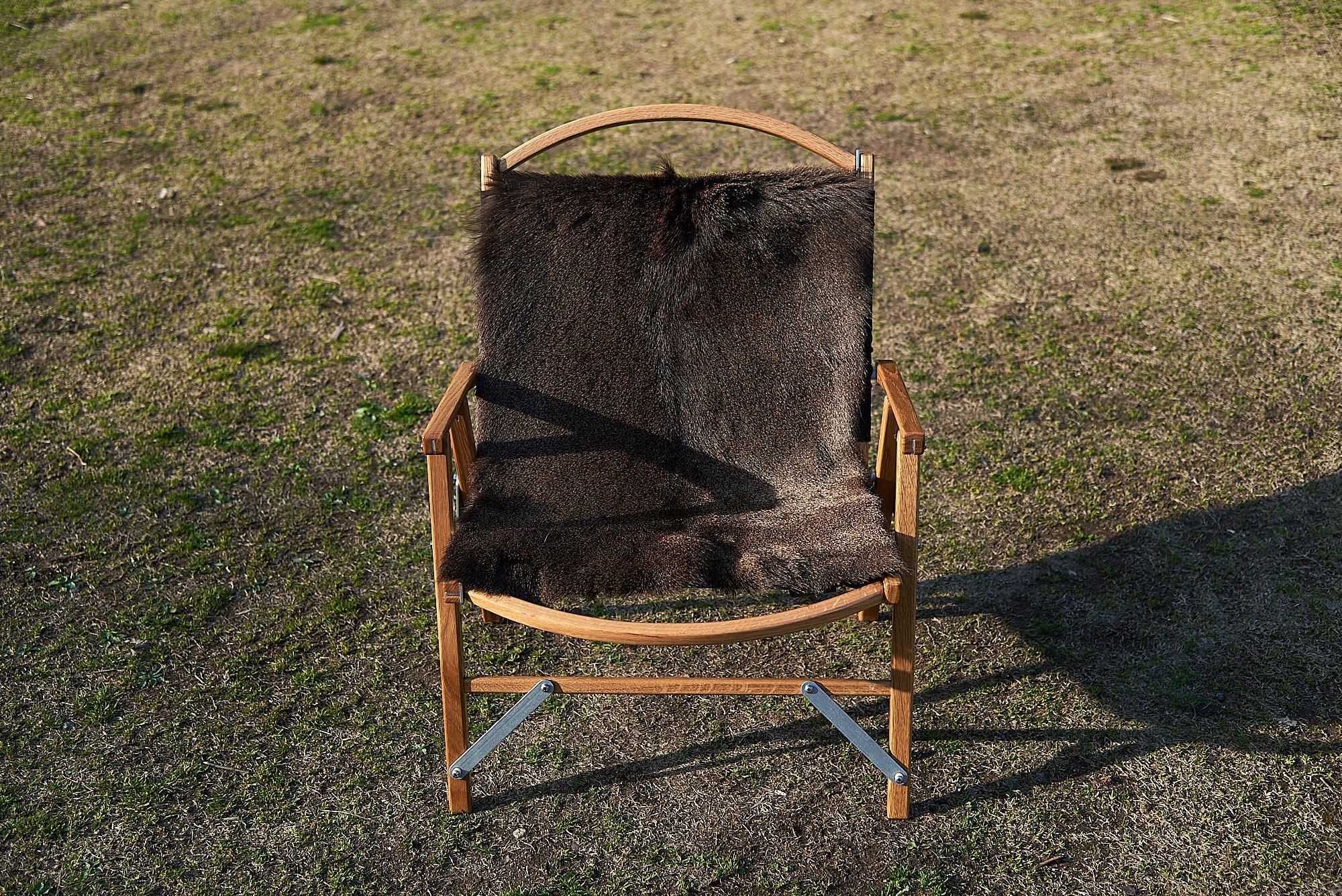 鹿毛皮のカーミットチェアカバー『OCHIBA』