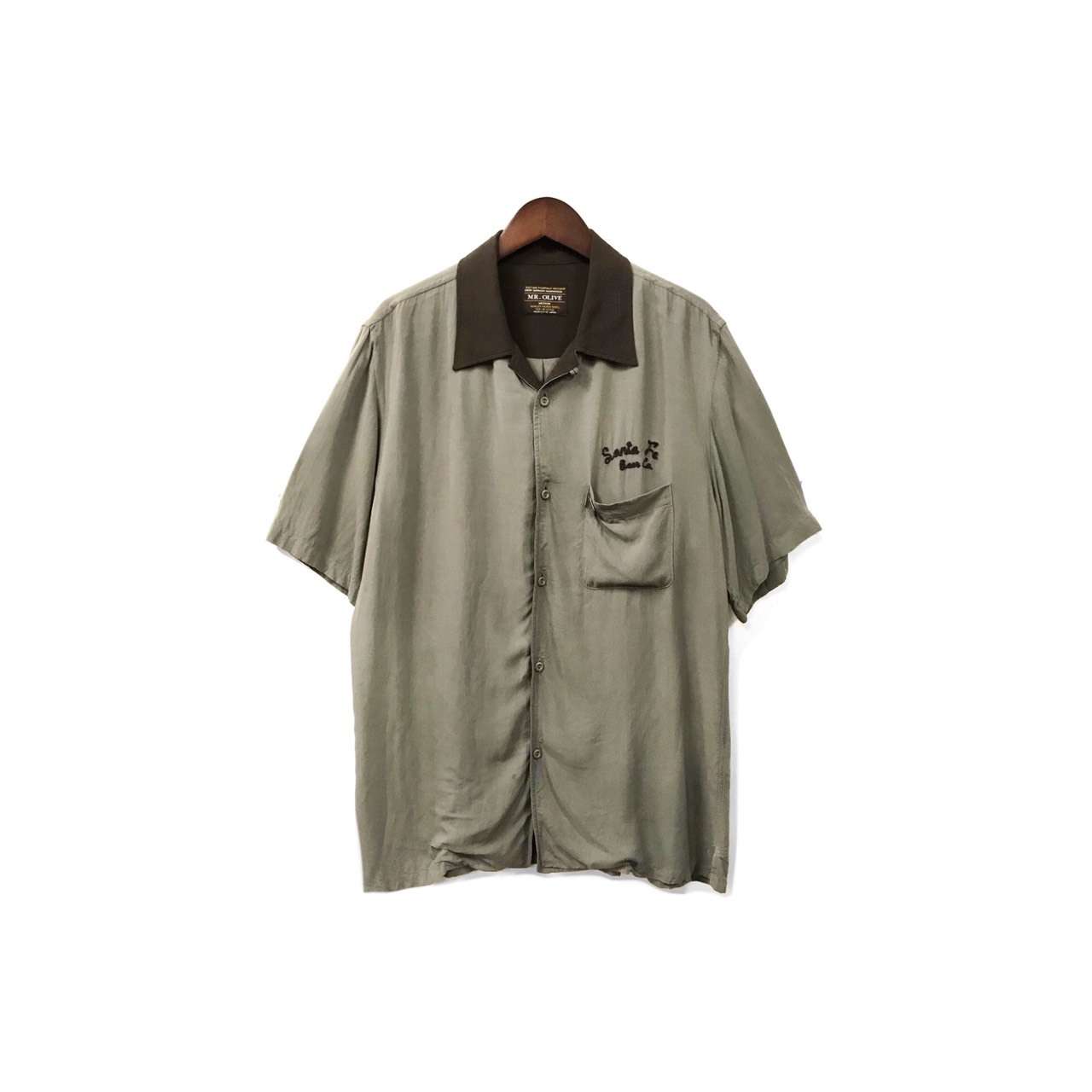 MR.OLIVE - Open Collar Rayon Shirt (size - M) ¥9000+tax → ¥7200+tax