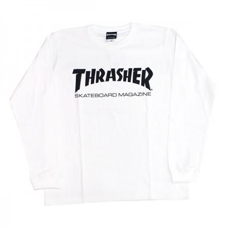 THRASHER 【L/S MAG LOGO L/STEE White/Black】