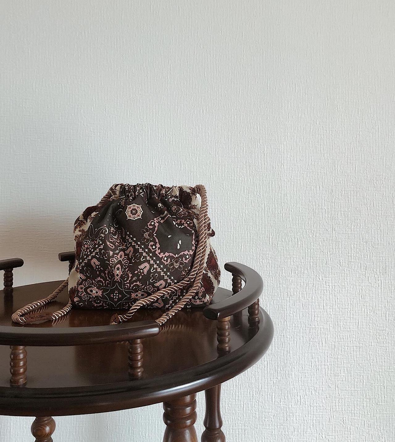 【再入荷決定!】パッチワーク巾着bag